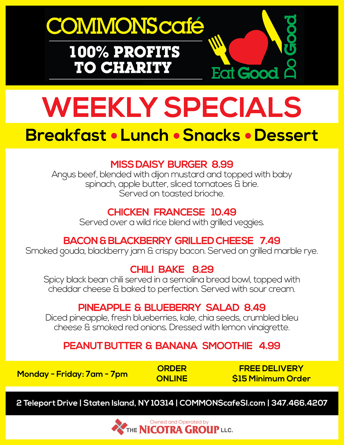 COMMONS CAFE WEEKLY SPECIALS_AUG22