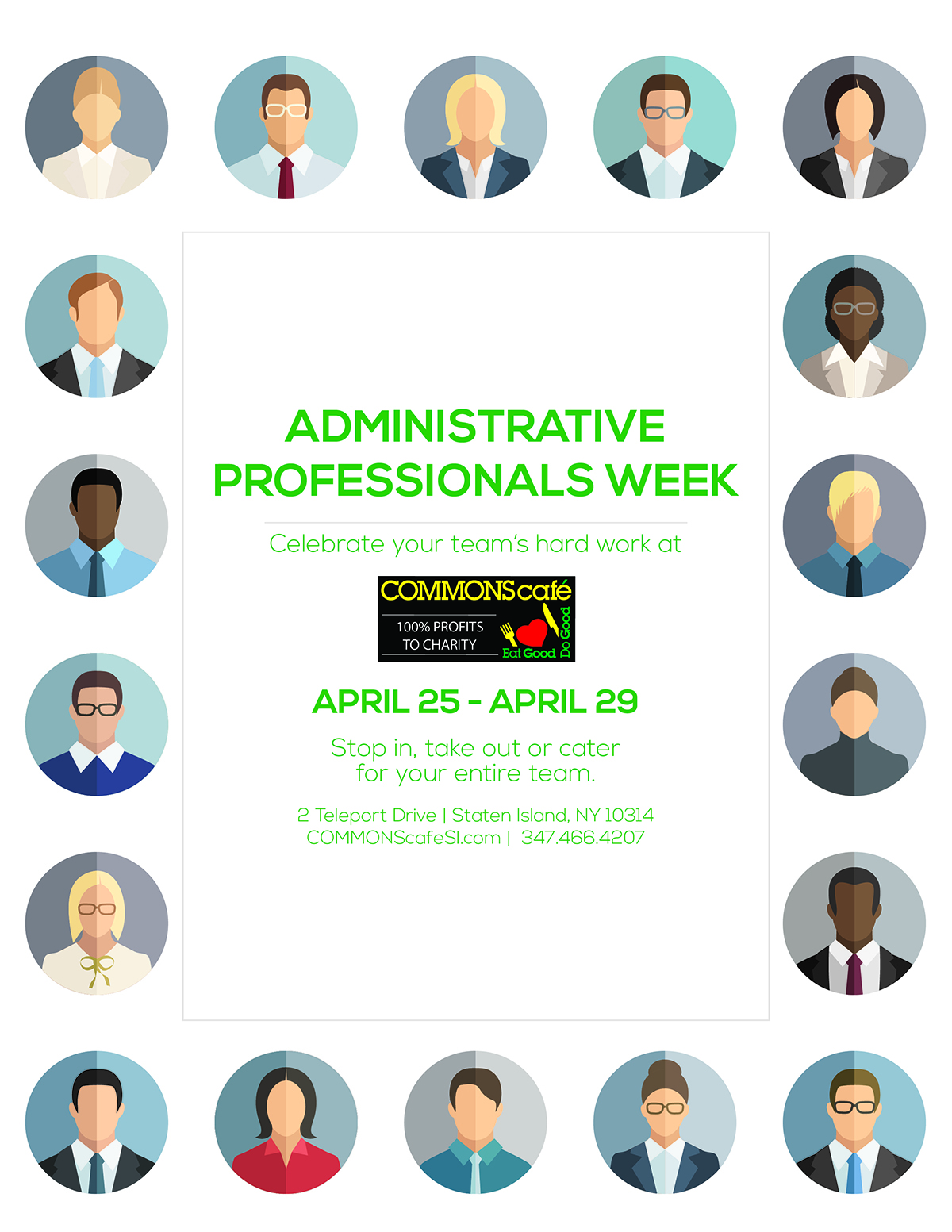 COMMONS Flyer Administrative Professionals Week
