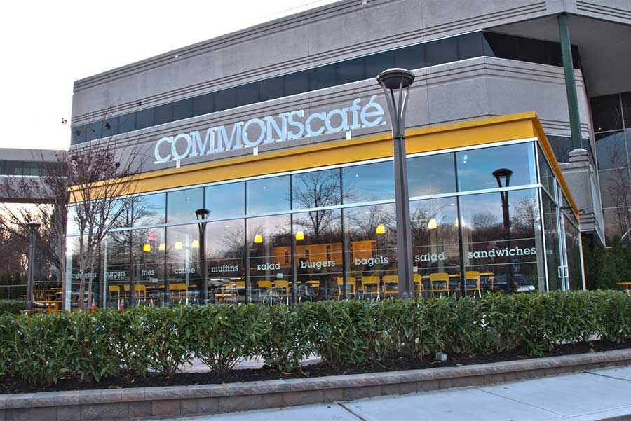 A photo of COMMONS Cafe building